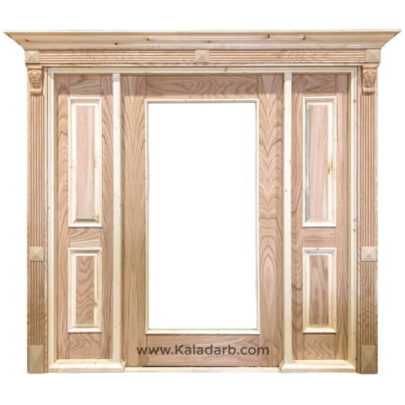 درب لابی چوبی شیشه خور